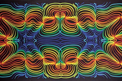 Sunshine Joy 3D Rainbow Ripple Tapestry Wall Hanging Trippy Table Cloth Magical Dorm Decor - Huge 60x90 Inches for $<!--$27.95-->
