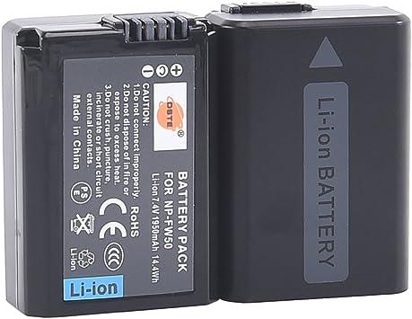 DSTE® 2x NP-FW50 Li-ion Batería para Sony Alpha 7 (a7), Alpha 7R ...
