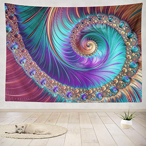 - ONELZ Decor Collection, Abstract Fractal and Shapes Fractal Puzzle Tie Fractal Art Fantasy Digital Bedroom Living Room Dorm Wall Hanging Tapestry 60