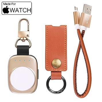 AICase Cargador Magnética para Apple Watch Portátil de 700mAh Batería Externa Cargador Inalámbrico para el Apple Watch 38mm,40mm,42mm,44mm/Apple Watch ...