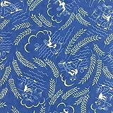 vintage print fabric - Moda Linzee Kull McCray Feed Sacks True Blue Countryside Light Blue