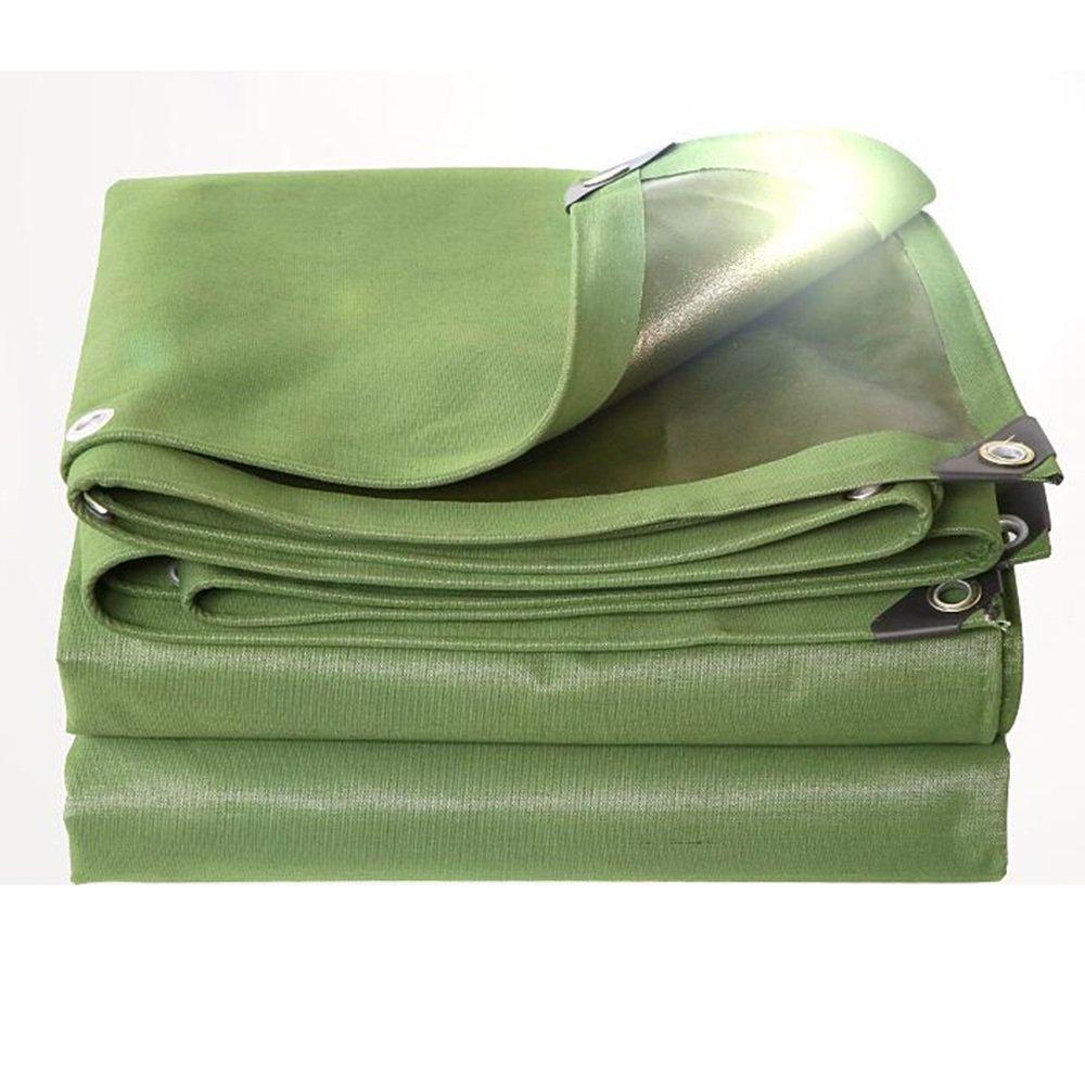 YANGFEI 防水シート ターポリン厚い防水布防水日保護トラックターポリンの天蓋布絶縁日陰の布0.8ミリメートル-600グラム/m² 耐久性に優れています (色 : アーミーグリーン, サイズ さいず : 5x 10m) B07F11NCF1 5x 6m|アーミーグリーン アーミーグリーン 5x 6m