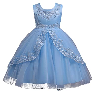 02020bf78 ADHS New Design Flower Girl Pretty Grace Aqua Blue Dresses(Aqua Blue,4-