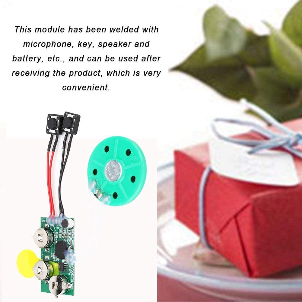 60 Seconds Recordable Voice Module Voice Sound Record Chip High Sound Quality for Christmas Birthday Wedding Gifts Karte DIY Greeting Card Module Single Play