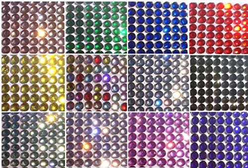 1400 Stück glitzernde Strasssteine selbstklebend super glänzend basteln Gltzersteine Schmucksteine Strass Steine zum Verzieren von CRYSTAL KING (Transparent Klar)