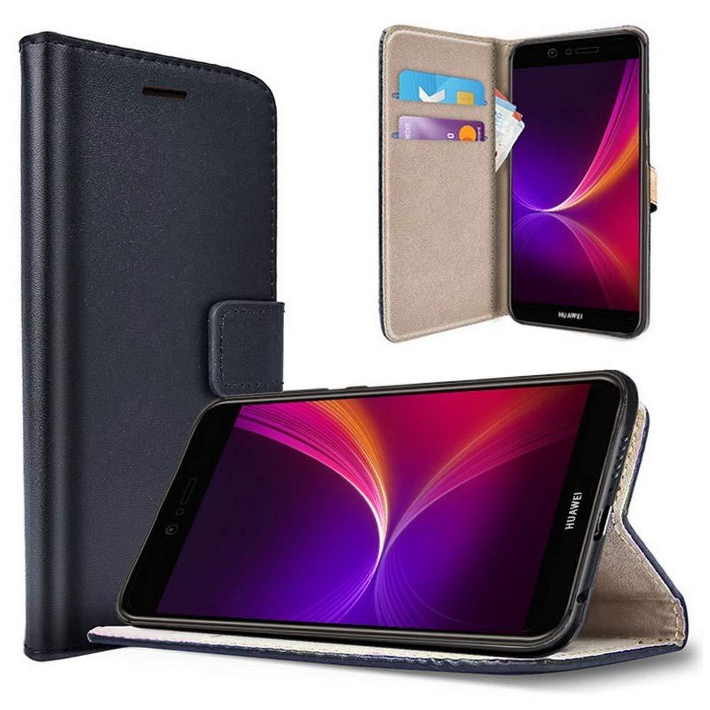 saii Huawei P9 Lite Hü lle Handyhü lle Schutzhü lle fü r Huawei P9 Lite Brieftasche mit Standfunktion Huawei P9 Lite Tasche mit Magnetverschluss Schwarz