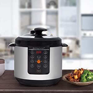 Electric Pressure Cooker 6 Qt Rice Cooke Slow Cooker,Multi-Use Programmable For Slow Cook,Saute,Rice Cooker,Yogurt,Steamer,Warmer