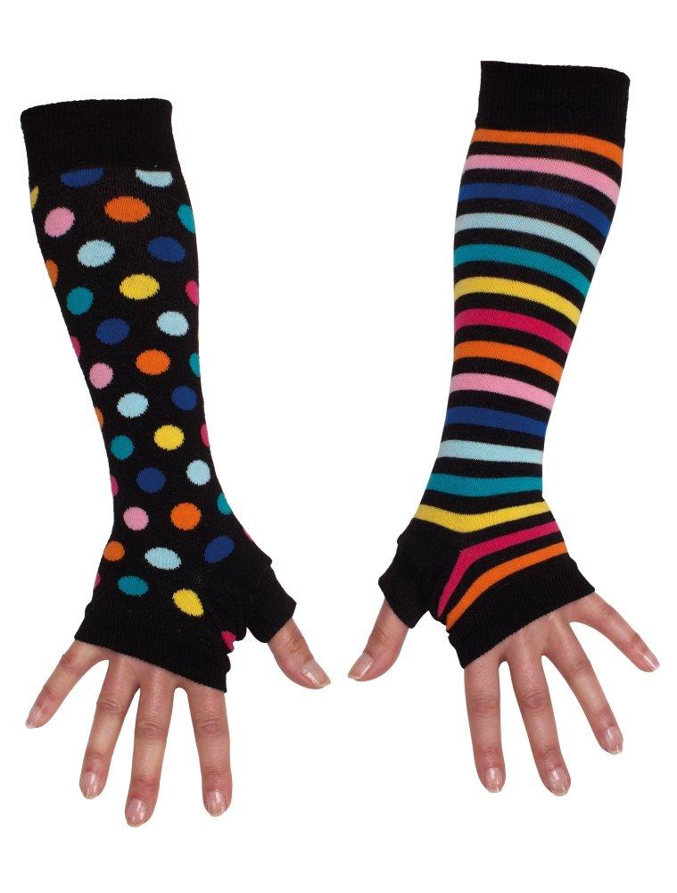 Armstulpen bunt - gestreift und gepunktet socks 5060152021389-$P