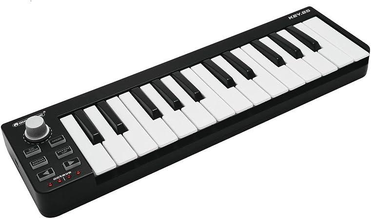 Omnitronic 11045074 - Controlador MIDI de 25 teclas