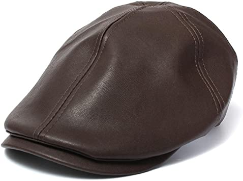 Xinantime Sombrero, PU Cuero Gorra Boina Sombreros Hombres Mujeres ...