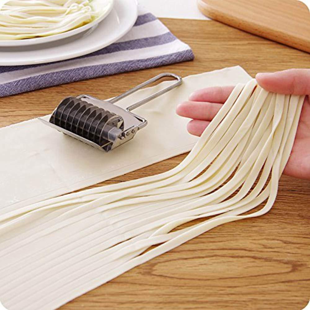 Cortador de pasta de acero inoxidable cortador de masa y utensilios de cocina herramienta para hacer espaguetis
