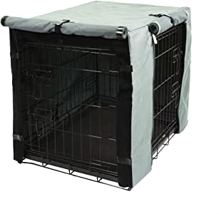 TOPEIUS Dog Crate Cover Cage Cover for 18inch Double Door Wire Crate, Durable Waterproof Pet Kennel Covers with Mesh Window