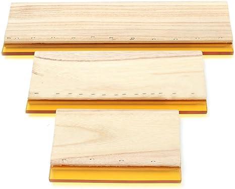 YeBetter 3 St/ücke Siebdruck Rakel Tinte Scaper Scratch Board Werkzeuge 16 Cm 24 Cm 33 Cm