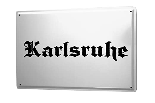 Cartel de chapa Placa metal tin sign Karlsruhe City Nombre ...