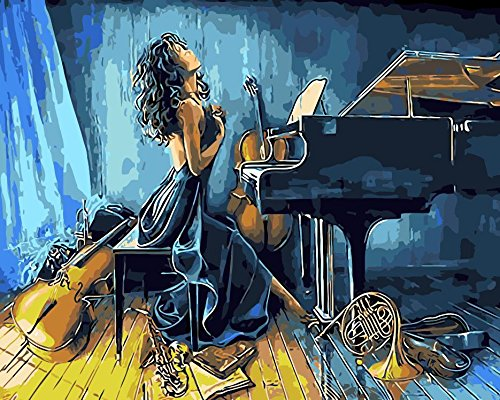 Prime Leader Frameless Diy Oil Painting, Paint by Number Kit 16x20 inch-musician - Musicians Oil Paintings