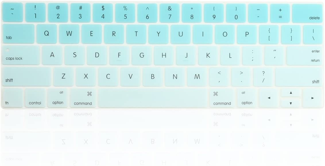 - Aqua Blue Ultra Slim Silicone Keyboard Cover Skin Compatible with MacBook Pro 13 15 with Touch Bar A1706//A1707//A1989//A1990 2018 /& 2017 /& 2016 Release TOP CASE