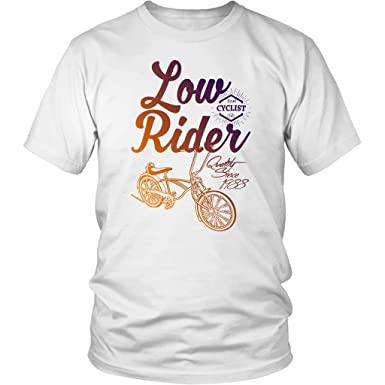 46eebe301 Low Rider Bicycle Gradient Graphic Tee Cotton T Shirts for Men and ...