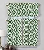 Cheap Duck River Textiles MCKGR=12/10815 2 Piece/1 Piece Mckenna Faux Linen Kitchen Curtain, 58×15/29×36, Green