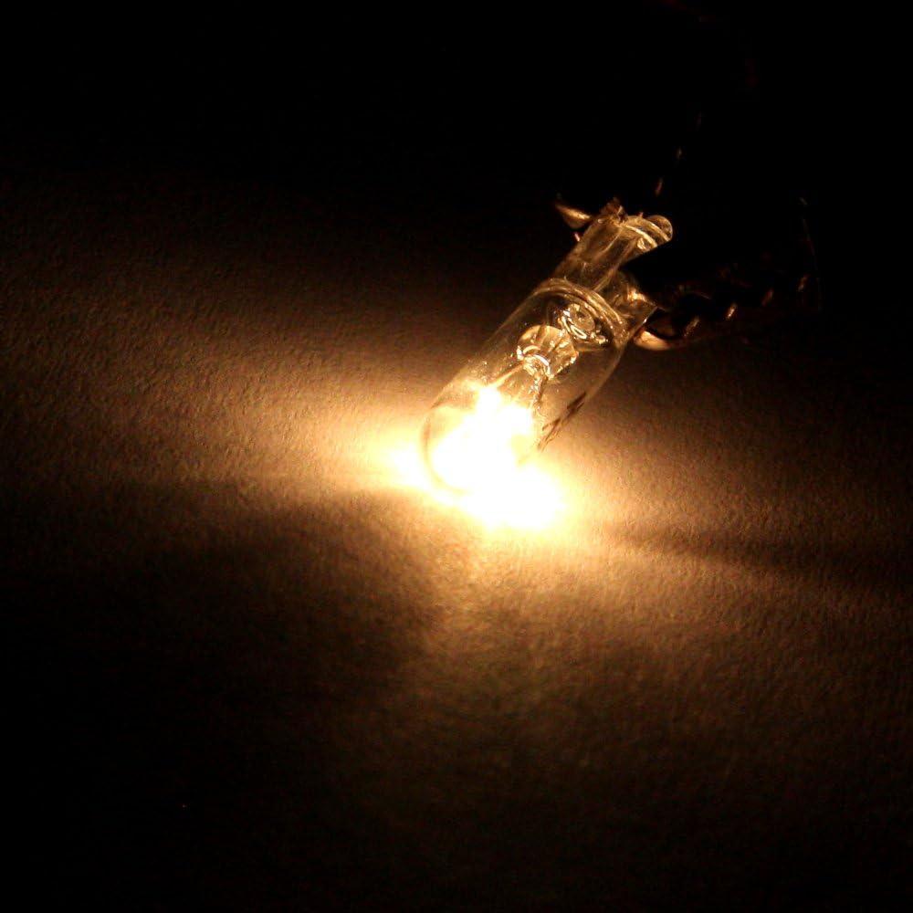 cciyu T5 Wedge 37 58 70 73 74 White 12V 1 LED Car Auto Dashboard Gauge Side Light Bulb Lamp Warm white