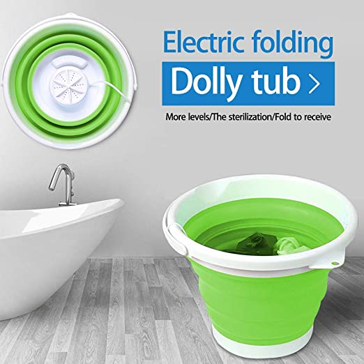College Rooms Portable Washing Machine A Dorms Small Tub USB Powered Turbine Laundry Washer Lightweight Mini Ultrasonic Turbo Washing Machine for Camping Travel Business Trip