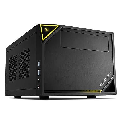 Sharkoon SHARK ZONE C10 - Caja de Ordenador, PC Gaming, MINI-ITX, Negro