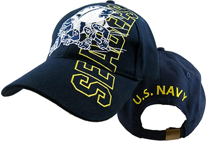7832e1fc9f3 Amazon.com  U.S. Navy Seabees Logo Cap