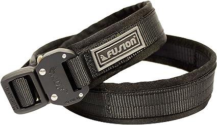 """Fusion Tactical Police Trouser Belt Gen II Type C Black Medium 33-38/""""//1.5/"""" Wide"""