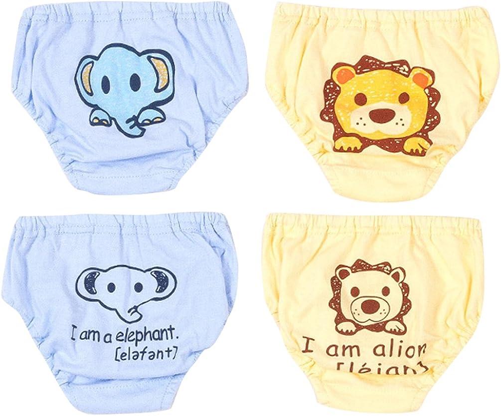 JEELINBORE Bebé Pantalones Reutilizables para Niño Niña, Cómodo Ropa Interior Braguitas Pantis, Multipack | 1-4 años