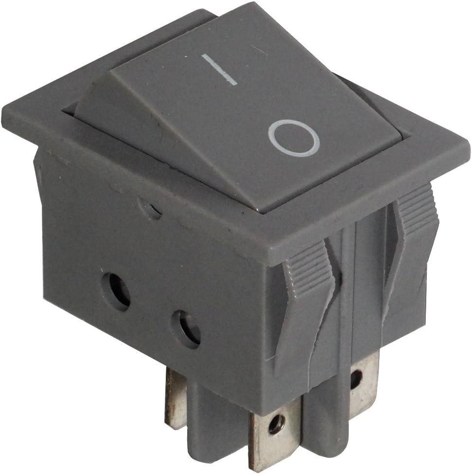 AERZETIX Interrupteur commutateur contacteur bouton /à bascule noir DP3T ON-OFF-ON 6A//250V 3 positions