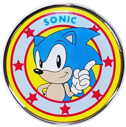 Sega: Sonic - Pin Badge Enamel (Spilla Smaltata) Half Moon Merchandising: Amazon.es: Hogar