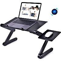 PESOO Soporte para Laptop Soporte Plegable para Computadora Portátil Mesa Ergonómica para MacBook Escritorio de Aluminio…
