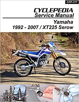 CPP-177-P Yamaha XT225 Serow Cyclepedia Motorcycle Service Manual in on