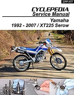cpp 177 p yamaha xt225 serow cyclepedia motorcycle service manual in rh amazon com Yamaha Warrior 350 Wiring Diagram Mule 600 Wiring Diagram