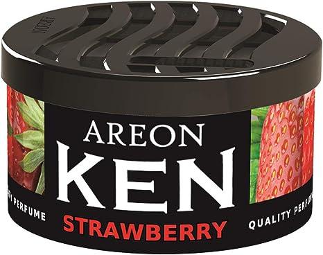 Areon Ken Lufterfrischer Erdbeere Dose Autoduft Wohnung Auto Duft Duftdose Erfrischer 3d Set Strawberry Pack X 2 Auto