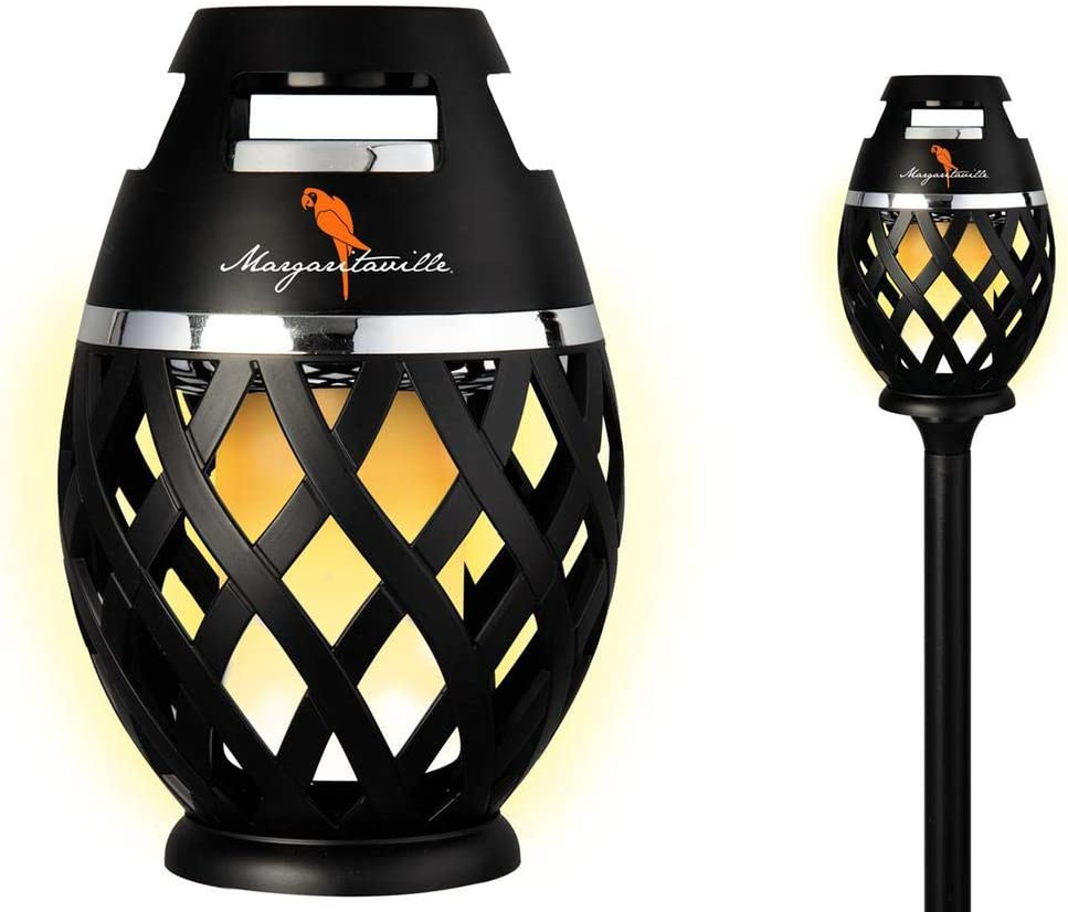 Two Pack Margaritaville Sounds of Paradise Outdoor Tiki Torch Bluetooth Light-Up Speaker- No Flame LED Lanterns / Lamp. Outside Patio Lights / Lantern Portable Blue Tooth Tiki Torch Stereo Speakers