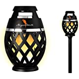 Two Pack Margaritaville Sounds of Paradise Outdoor Tiki Torch Bluetooth Light-Up Speaker- No Flame LED Lanterns / Lamp. Outsi