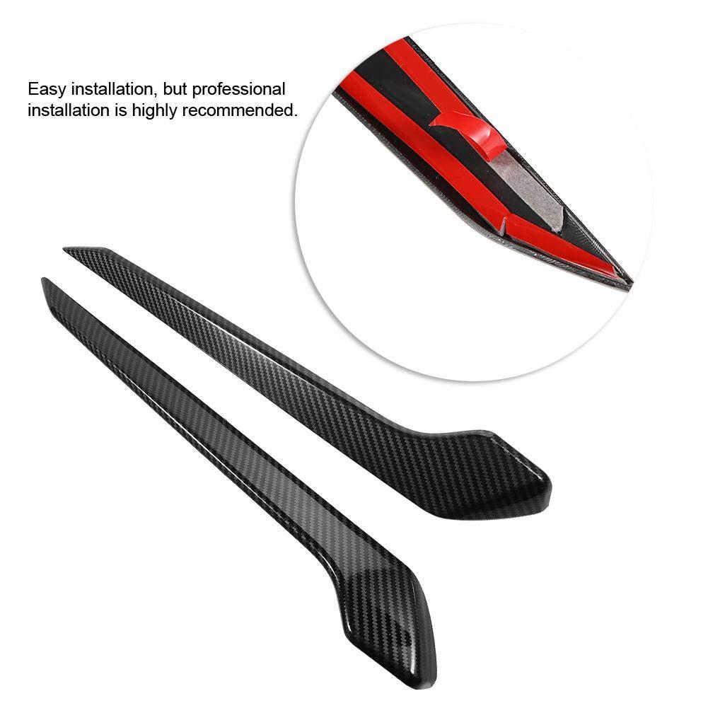adesivo porta decorazione interna per RAV4 2019 fibra di carbonio stile Qii lu 4 pezzi in fibra di carbonio stile interno porta striscia interna