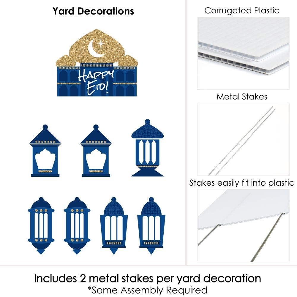Amazon Com Ramadan Yard Sign And Outdoor Lawn Decorations Eid Mubarak Yard Signs Set Of 8 Garden Outdoor
