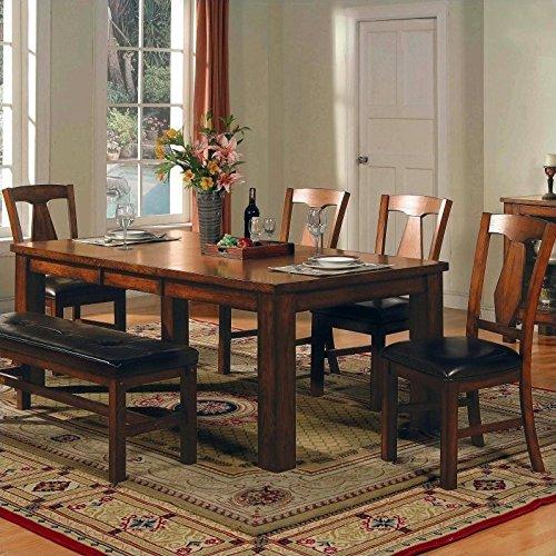 Steve Silver Lakewood 5-Piece Dining Table Set in Rich Oak