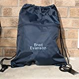 Oh Sew Simple Personalised Water Resistant QUADRA Swim Bag - Kids Sports Bag - Gym Bag - with zip front side pocket...