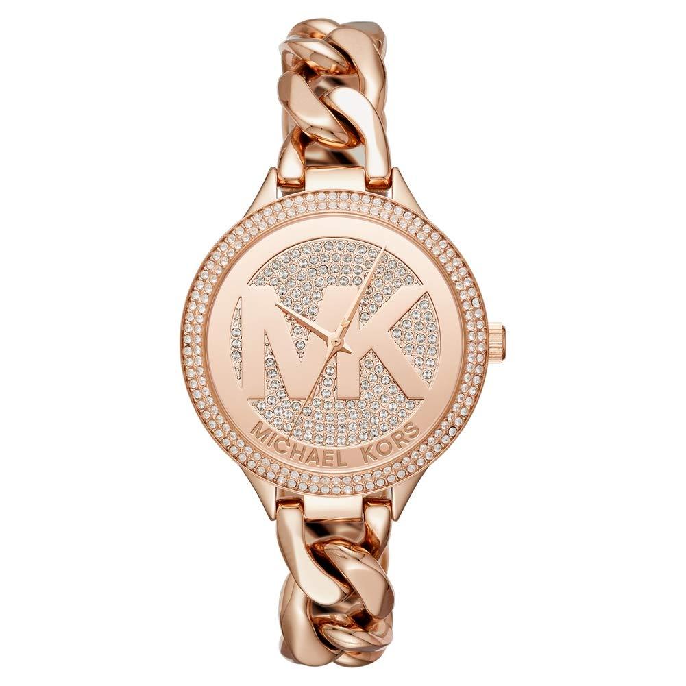 c73faf8980dc Michael Kors Slim Runway Rose Gold Stainless Steel Ladies Watch MK3475   Amazon.co.uk  Watches