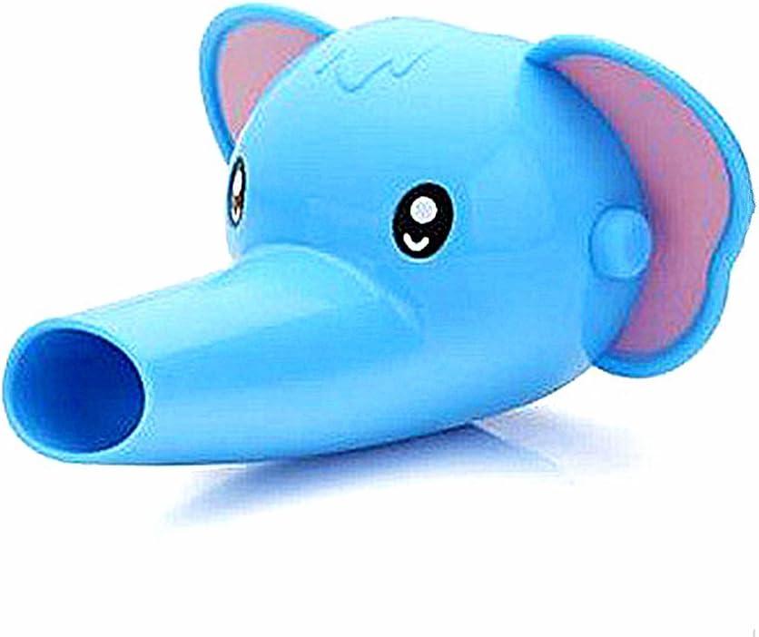 Blau SLHP Wasserhahn Verl/ängerung Baby Hahn Extender f/ür Kinder Silikon H/ände Waschen Badezimmer Waschbecken Anzapfung Waschtischarmatur