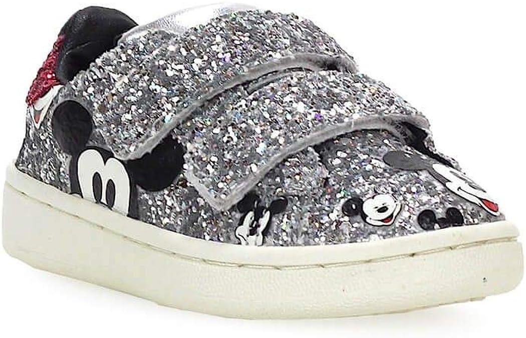 Fall Winter 19 MOA Luxury Fashion Girl MDJ344 Silver Glitter Sneakers