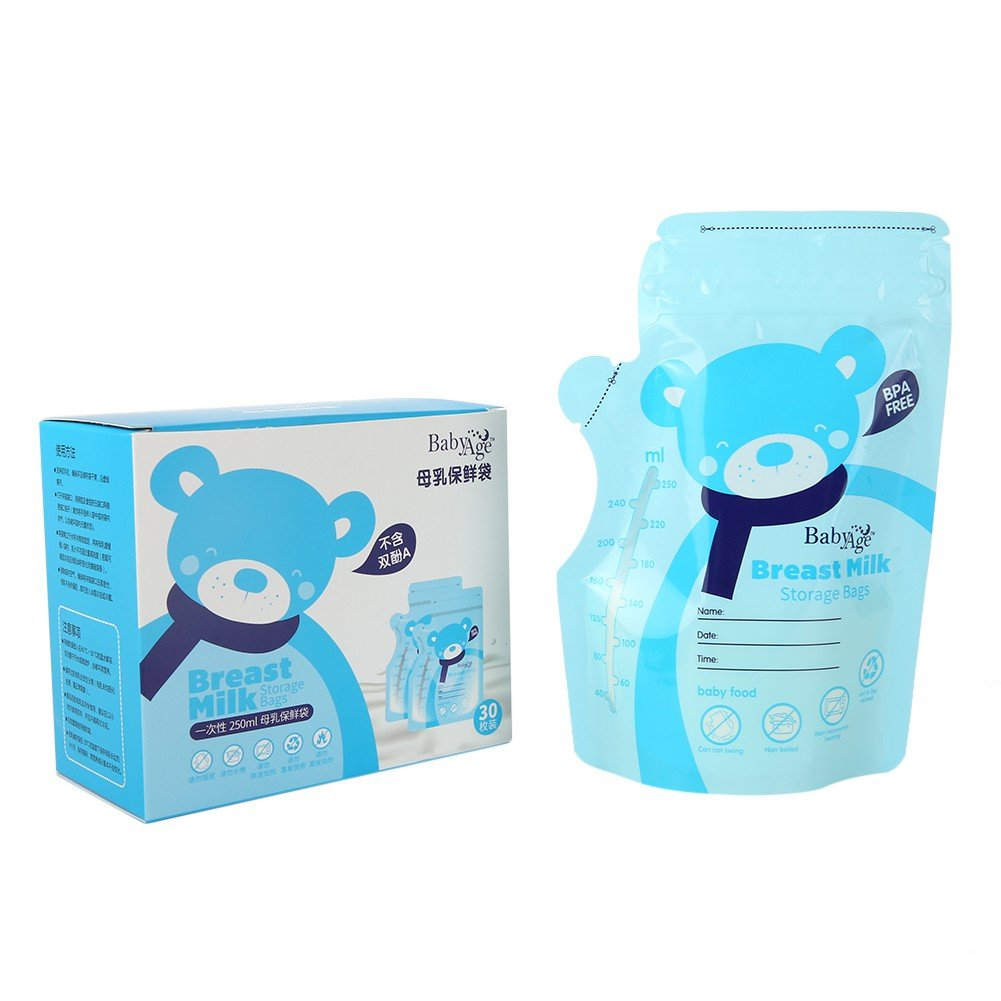 Blaward Breast Milk Storage Bags Breastfeeding Freezer Container 250ml Pack of 30