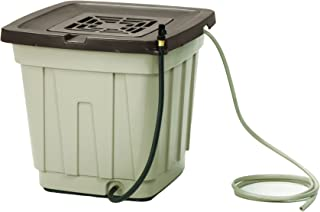 product image for Suncast 50 Gallon Rain Barrel with Hose - Durable Resin Rain Barrel - Holds and Catches Rain Water - Taupe