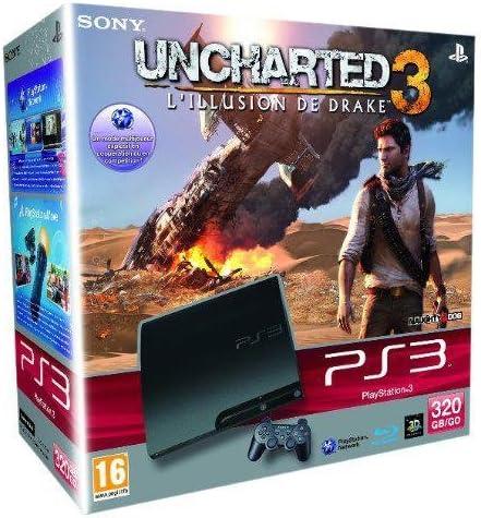Console PS3 320 Go noire + Uncharted 3 : lillusion de Drake [Importación francesa]: Amazon.es: Videojuegos