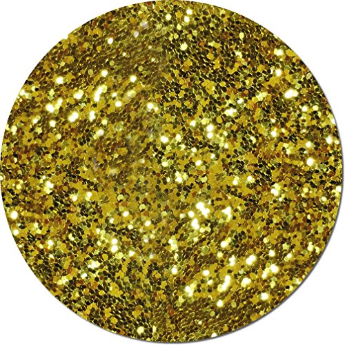 Glitter My World! Fat Flake Craft Glitter: 3/4 oz Jar Gold Bullion