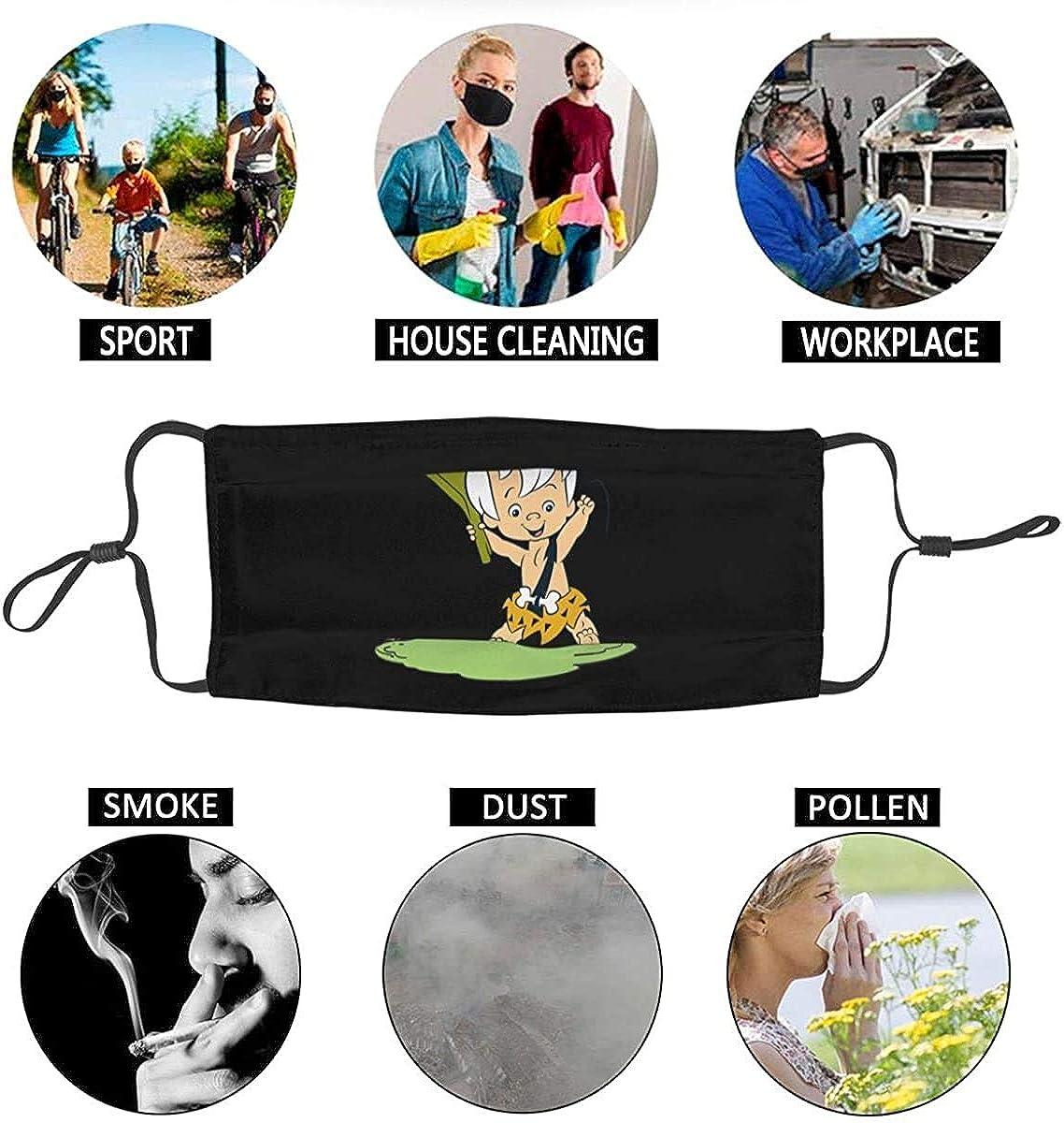 N//A Flintstones Bam Unisex Reusable Bandana Cover Anti-Haze Covers Balaclava Scarf Balaclava Bandana Protection for Outdoor