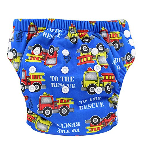 - Ohbabyka Baby Training Pants Washable Reusable Nappy Diaper Soft Baby,Fire Engines