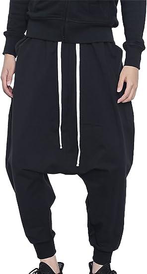 Drop Crotch PantsHarem PantsWhite PantsCasual PantsMinimalist PantsLong PantsBlack PantsLoose PantsWide Leg PantsWomen PantsYANORA